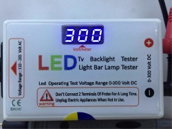 LED LED TV LED ÇUBUK TEST CİHAZI , LED AYDINLATMA TEST CİHAZI , LED TV BACKLIGHT TESTER , LED LIGHT BAR LAMP TESTER , 0-300 VOLT DC