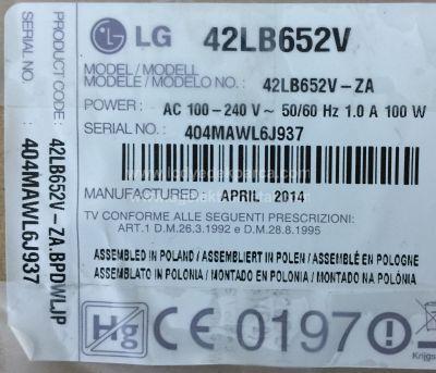 LG , LC420DUH FG P2 , LC420DUH FG A2 , 42LB652V , 42LB630V , 6916L-1709C , 6916L-1710C , Direct 3.0_42inch_rev7 , 8 ADET LED ÇUBUK