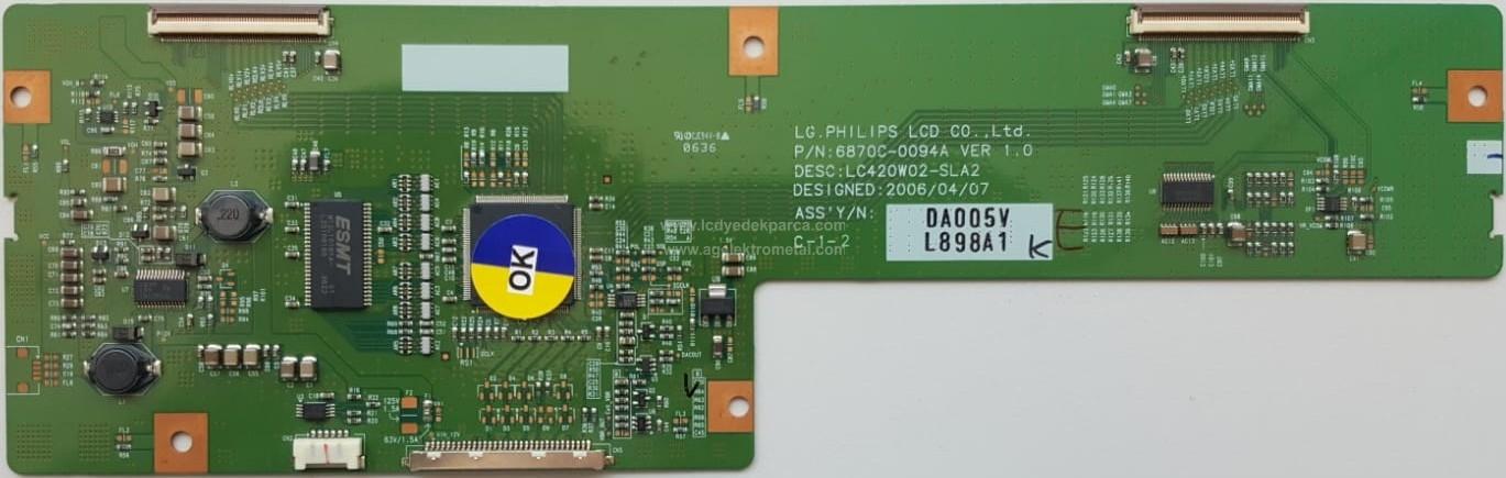 6870C-0094A , LC420W02 SL A2 , LC420W02 SL A1 , Logic Board , T-con Board